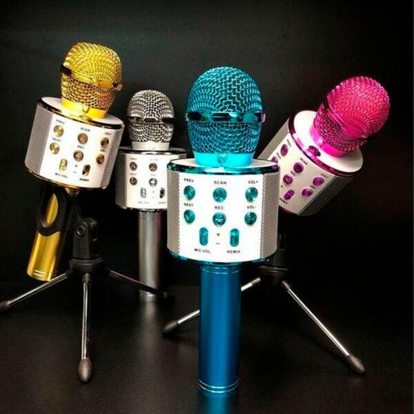Беспроводной караоке-микрофон WS-858 4