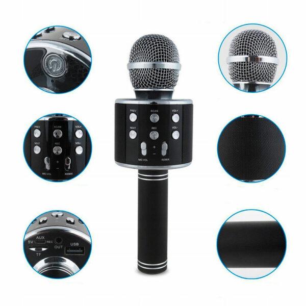 Беспроводной караоке-микрофон WS-858 1