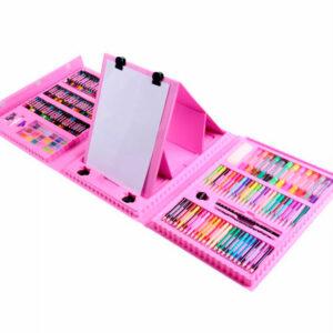 Набор для рисования в чемоданчике с мольбертом 208 предметов
