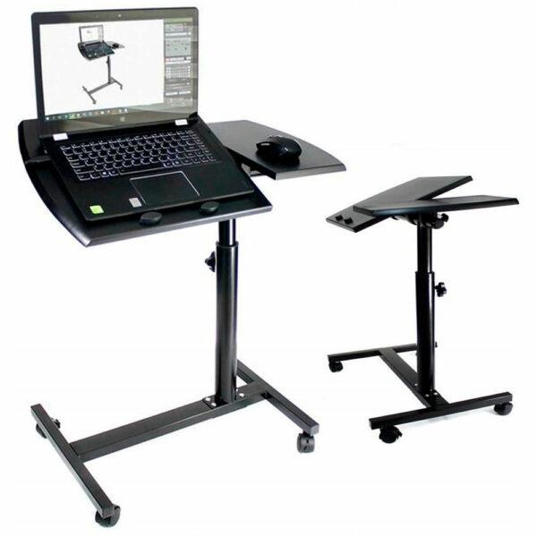 Стол для ноутбука на колёсиках Folding computer desk