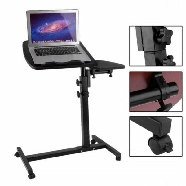 Стол для ноутбука на колёсиках Folding computer desk 4