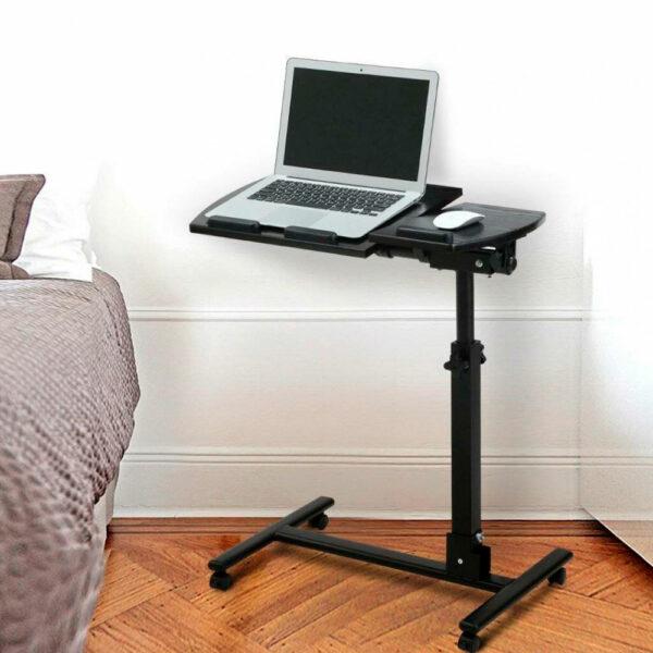 Стол для ноутбука на колёсиках Folding computer desk 5