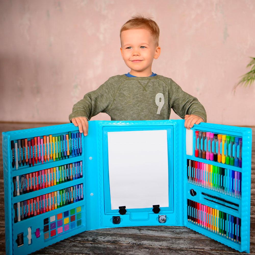Набор для рисования в чемоданчике с мольбертом 208 предметов 8
