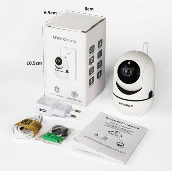 Беспроводная поворотная IP Wi-Fi камера видеонаблюдения для дома 7