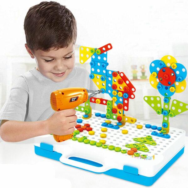 Конструктор-мозаика с шуруповёртом Creative Mosaik 151 деталь 5