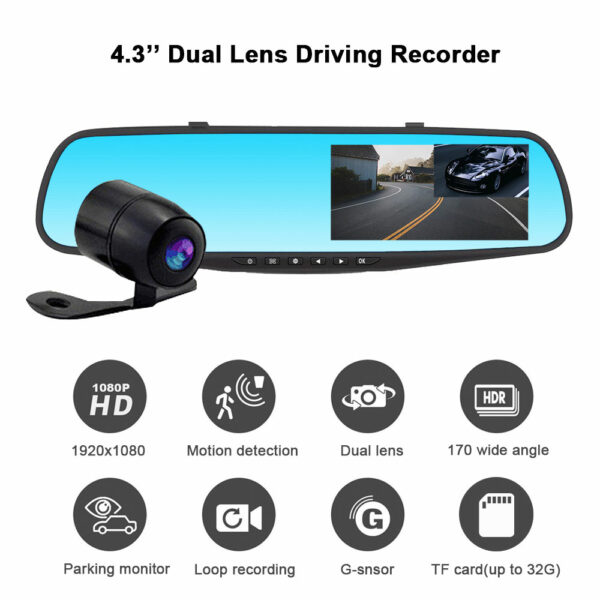 Зеркало-видеорегистратор Vehicle Blackbox DVR 4