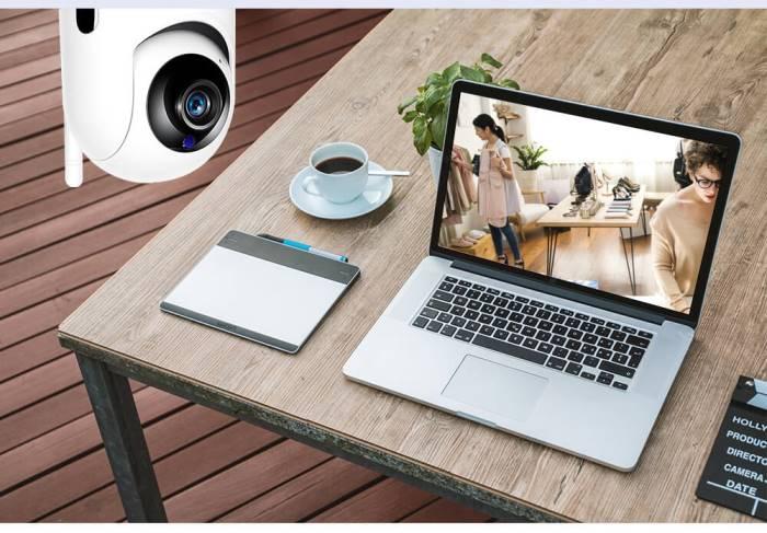 Беспроводная поворотная IP Wi-Fi камера видеонаблюдения для дома 11