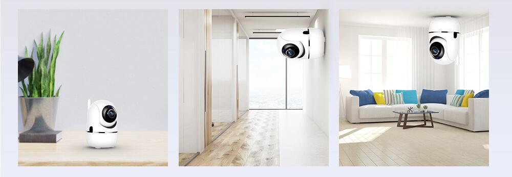 Беспроводная поворотная IP Wi-Fi камера видеонаблюдения для дома 10