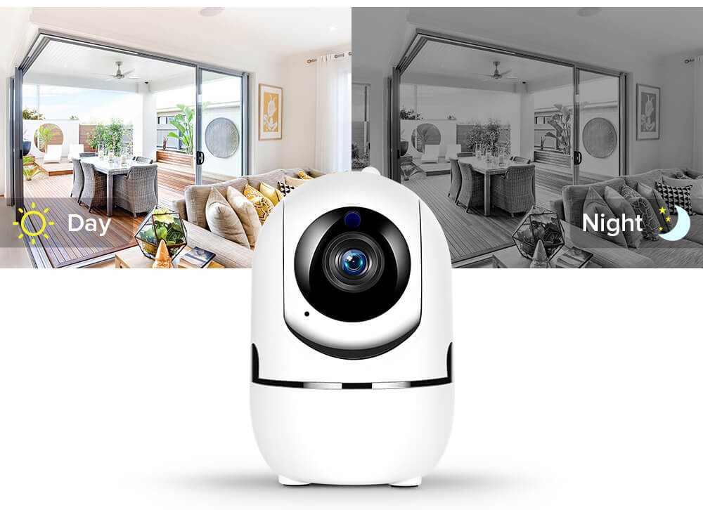 Беспроводная поворотная IP Wi-Fi камера видеонаблюдения для дома 17