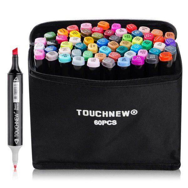 Профессиональные маркеры для скетчинга Touch 60 цветов