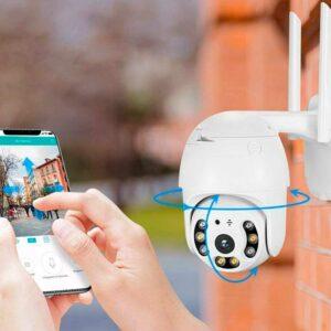 Уличная поворотная PTZ ip Wi-Fi камера видеонаблюдения 7