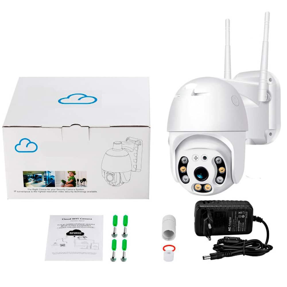 Уличная поворотная PTZ ip Wi-Fi камера видеонаблюдения 17