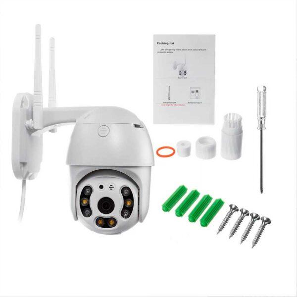 Уличная поворотная PTZ ip Wi-Fi камера видеонаблюдения 4