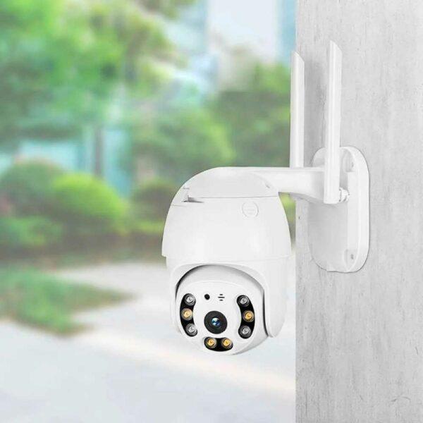 Уличная поворотная PTZ ip Wi-Fi камера видеонаблюдения 3