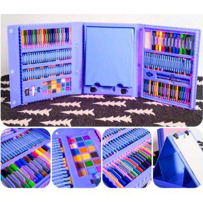 Набор для рисования в чемоданчике с мольбертом 208 предметов 12